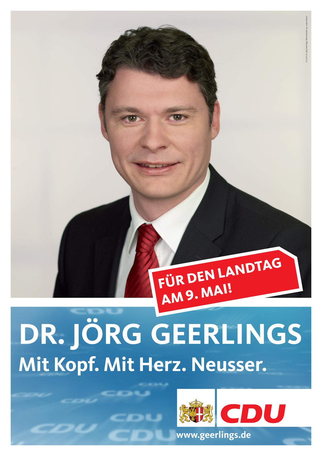 Plakat zur Landtagswahl 2010