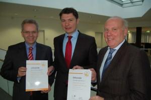 Stefan Lommetz, Dr. Jörg Geerlings und Heinz Runde