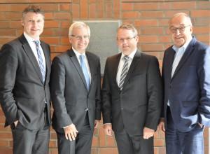 vlnr: J. Geerlings, St. Lommetz, E. Boden, H. Napp