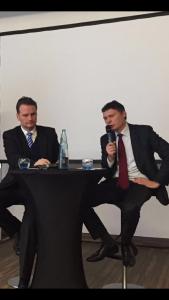 Staatssekretär Krings im Gespräch mit Jörg Geerlings